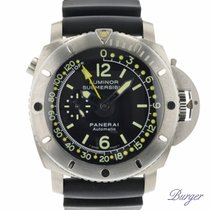 Panerai Luminor Submersible 1950 Depth Gauge Титан 47mm Чёрный Aрабские