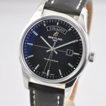 Breitling Transocean Day & Date Stål 43mm Sort