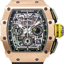Richard Mille RM 011 Roségold 50mm Transparent Arabisch