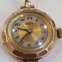 Rolex Oro 9 kt Vintage Art Deco bracciale 18 kt Anni 20