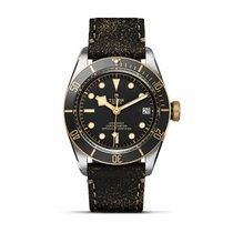 Tudor Black Bay S&G 79733N-0007 Tudot BAY BLACK S&G Acciaio Nero Pelle  Oro new
