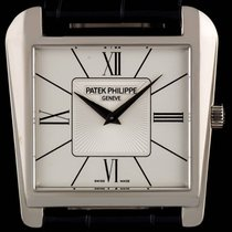 Patek Philippe pre-owned Manual winding 32.5mm White gold Sapphire Glass