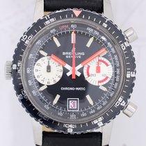 Breitling Chrono-Matic Chronograph black Panda dial Vintage...
