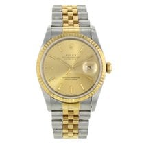 Rolex Datejust 16233 Stainless Steel &18K Yellow Gold Watch