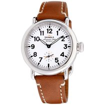 Shinola The Runwell White Dial Leather Strap Ladies Watch...