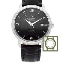 Omega De Ville Prestige Co-Axial 39.5 mm Black Dial Black Strap
