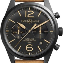 Bell & Ross Steel 41mm Automatic BR-126-HERITAGE new