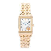Jaeger-LeCoultre Rose gold Manual winding Silver Arabic numerals 42.6mm pre-owned Reverso (submodel)