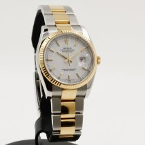 Rolex Datejust Золото/Cталь 36mm Белый Римские