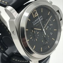 Panerai Luminor Chrono Stal 44mm Czarny Arabskie