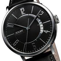 Joop Global Automatic Herren-Armbanduhr Lederband schwarz NEU