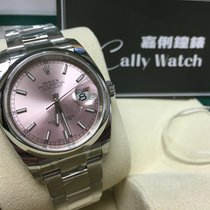 Rolex Cally - 116200 36mm Oyster Datejust Pink Stick Dial [NEW]