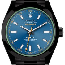 Rolex Milgauss GV Blue (black, DLC) by Blaken