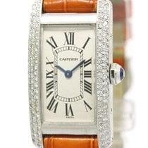 カルティエ (Cartier) Tank American Custom Diamond 18k Gold Watch...