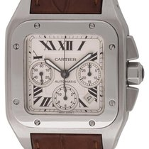 Cartier : Santos 100 XL Chronograph :  W20090X8 :  Stainless...