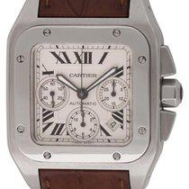 Cartier : Santos 100 XL Chronograph :  W20090X8 :  Stainless...