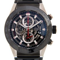 豪雅 (TAG Heuer) Carrera Stainless Steel Black Automatic...