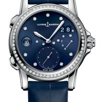 Ulysse Nardin Classic Lady Dual Time Stainless Steel &...