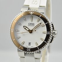 Oris Aquis Date Automatic Steel White 36mm Unisex Rubber