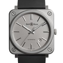 Bell & Ross Steel 39mm Automatic BRS92-GR-ST/SRB new