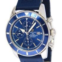 Breitling SuperOcean Heritage Chronograph Steel Blue 46mm Mens...