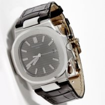 Patek Philippe Nautilus White Gold Grey Dial on Strap 40mm...