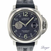 Panerai Luminor Marina Automatic Сталь 44mm Cерый Aрабские