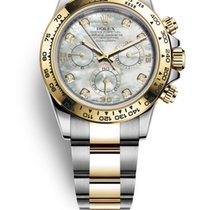 Rolex Daytona Gold/Steel 40mm Mother of pearl No numerals United States of America, New Jersey, Totowa