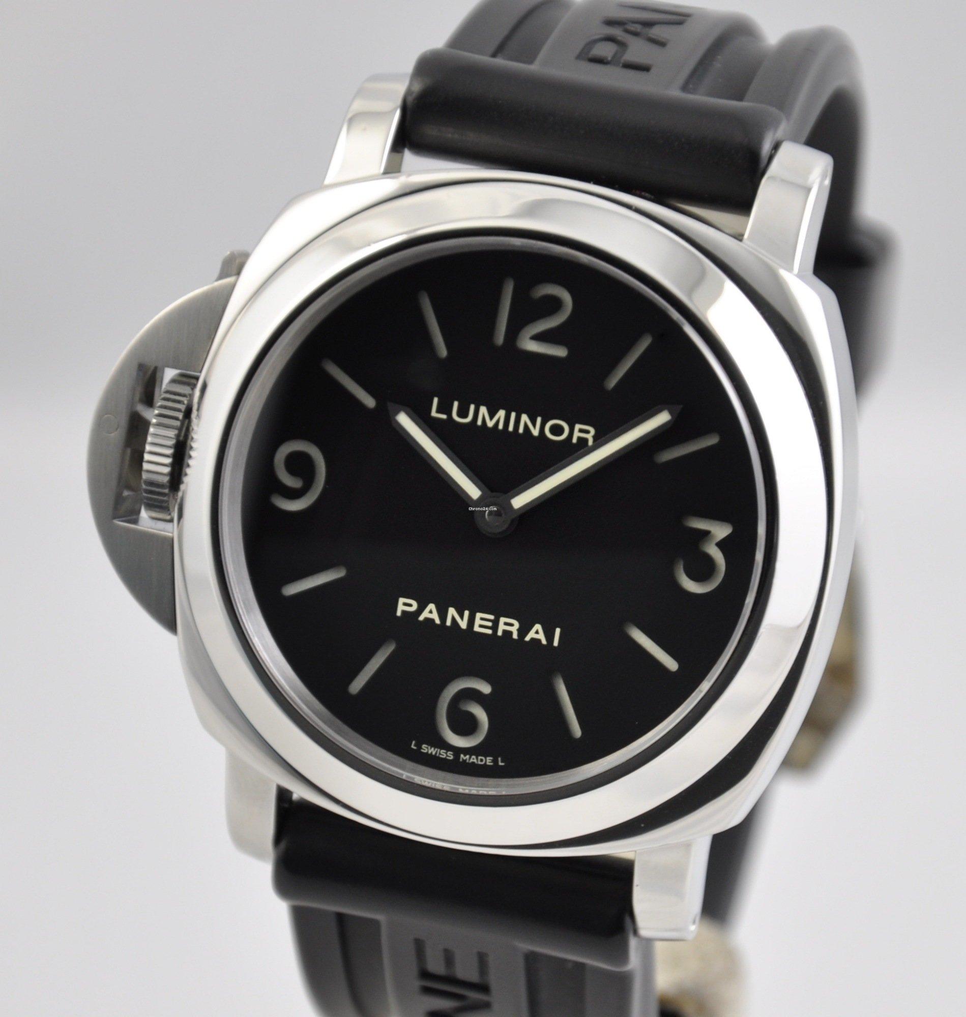 online store df111 e73ee Panerai Luminor Base Destro Lefty 44mm Steel PAM00219 Manual ...