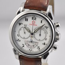 Omega De Ville Co-Axial pre-owned 41mm White Chronograph Leather
