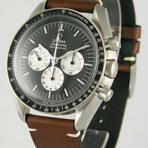 Omega Stahl Handaufzug Schwarz 41mm gebraucht Speedmaster Professional Moonwatch