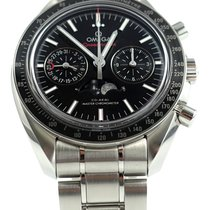 Omega Speedmaster Professional Moonwatch Moonphase Acero 44mm Negro Sin cifras