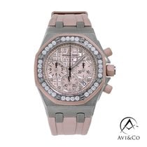 Audemars Piguet Royal Oak Offshore Lady Сталь 37mm Розовый Без цифр