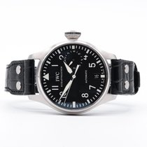 IWC Big Pilot occasion 46mm Noir Cuir de crocodile