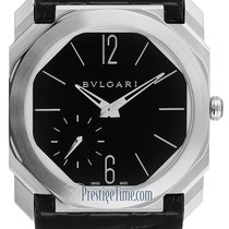 Bulgari Platinum Manual winding Black 40mm new Octo