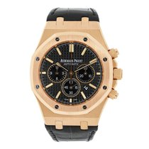 Audemars Piguet AP Royal Oak Chronograph 41 Rose Gold on Black...