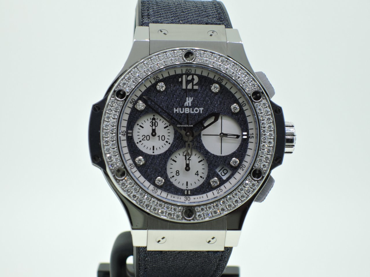 Hublot Big Bang Glossy Jeans Diamonds Lim. Edition Neuzustand