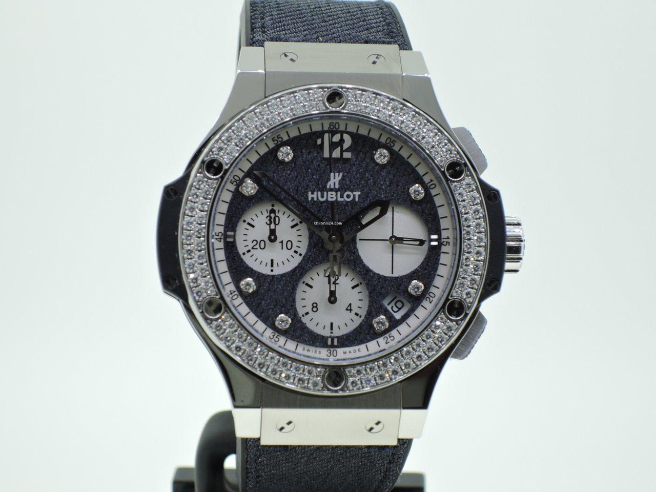 low priced bcf39 93f7d Hublot Big Bang Glossy Jeans Diamonds - Lim. Edition - Neuzustand