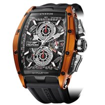 Cvstos Challenge GT Chrono 2 Black & Orange Titanium 'DANI...