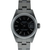 Rolex Oyster Perpetual Date Stainless Steel Smooth Bezel With...