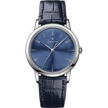 Zenith Elite Steel 39mm Blue No numerals