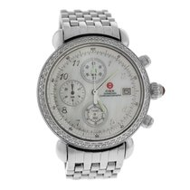 Michele Ladies  CSX 71-4000/5000 Steel MOP Diamond Quartz 36MM