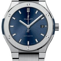 Hublot Classic Fusion Titanium Blue Bracelet