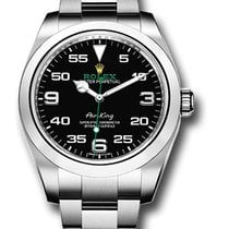 Rolex Air King Acél 40mm Fekete Arab