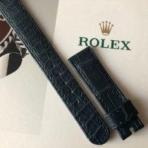 Rolex 15x13mm Original Dark Blue Crocodile strap - 100% genuine nouveau