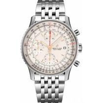 Breitling Navitimer Heritage Steel 41mm Silver No numerals