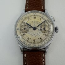 Tissot Chronograph 38mm Manual winding 1930 pre-owned Silver