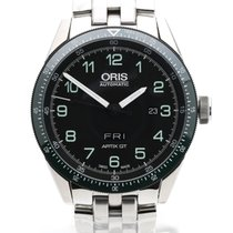 Oris Calobra Steel 44mm Black Arabic numerals