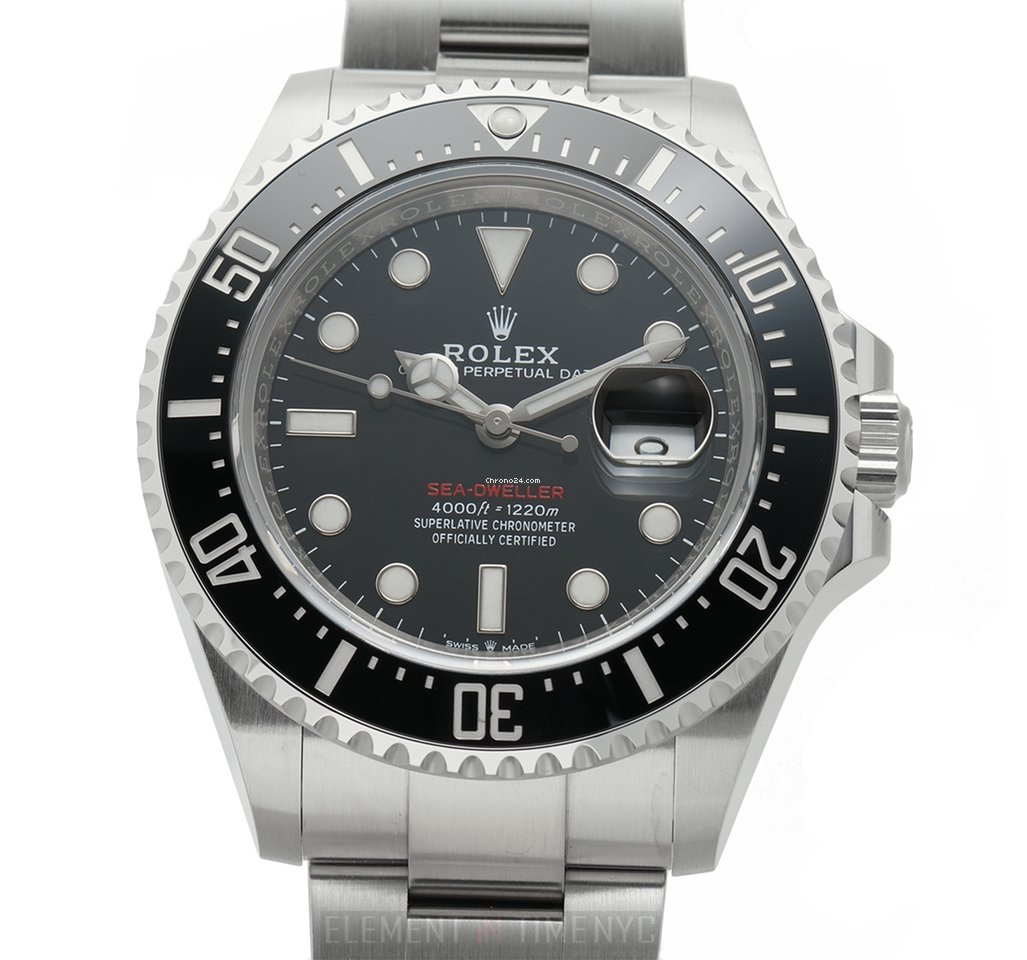 Rolex Sea Dweller 4000ft Anniversary Red Writing Dial With Cyclops 43mm