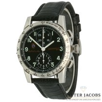Eberhard & Co. pre-owned Automatic 39mm Black Sapphire Glass 3 ATM